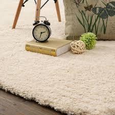 White Soft Rug Modern Weave Supreme Collection Cream White Beige Shag Floor Rug
