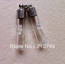 Rice Name Necklace Blue Rose Necklace Charm Cremation Ash Urn Gift Vial With Silver