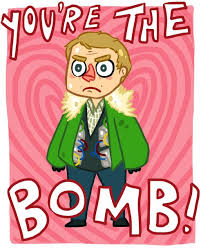 sherlock valentines day cards sherlock valentines day cards you re the bomb watson
