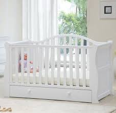 Sleigh Cot Bed Babylo Sleigh Cotbed White Pitter Patter Toys Nursery
