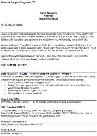technical support engineer cover letter letter of support example