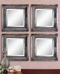 Classy Mirrors by Avion Square Silver Mirrors Set Of Two 18