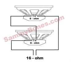 2 speaker 16 ohm wiring throughout speakers in parallel diagram at