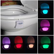 toilet light 8 colors led lights with motion sensor toilet light 3a battery