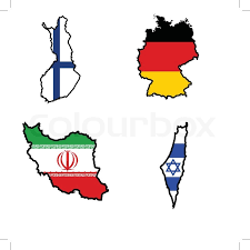 iraq map vector illustration of flag in map of finland germany iran iraq stock