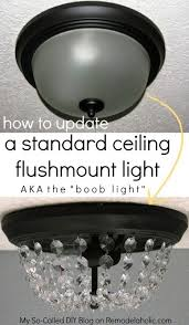 How To Install Bathroom Light Fixture - say no to ugly ceiling lights update the standard dome light the