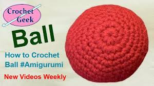 crochet pattern videos for beginners how to crochet knit english amigurumi ball tutorial free online