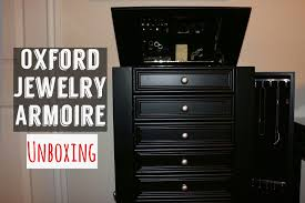 home decorators oxford jewelry armoire unboxing youtube