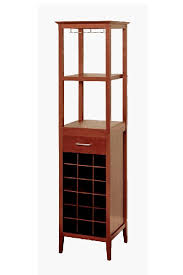 Vertical Bar Cabinet Mission Shaker Walnut Vertical Wine Rack Bar Cabinet Modern