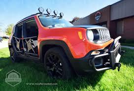 red jeep patriot black rims sema sneak peek new jeep renegade accessories motor city