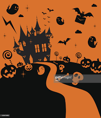 cute and cool halloween haunted house castle vector art getty images