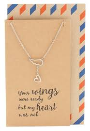 sympathy gifts heart lariat angel wing necklace sympathy gifts quan jewelry