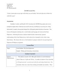 model lesson plan template eliolera com