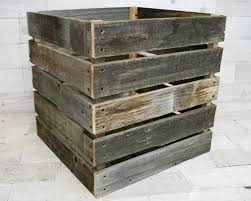 milk crate shelves barn wood milk crate 20 x 20 x 20 aka