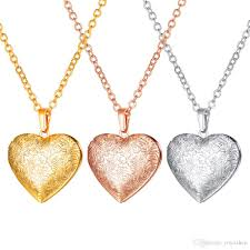 platinum heart necklace images Flower lockets necklaces 18k gold platinum plated rose gold jpg