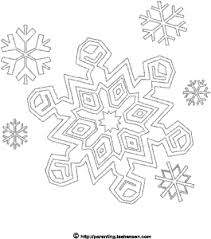 winter coloring snowflakes blizzard printable