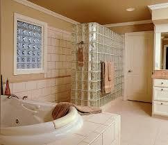 glass block bathroom designs glass block walls for bright and modern bathroom design