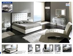 Modern Bedroom Furniture Nyc by Penelope 622 White M95 C95 E96 B5 Modern Bedrooms Bedroom