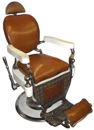 Antique Barber Chairs For Sale Barber Chair Mfgd By Theo Koch Chicago White Porcelain W Camel