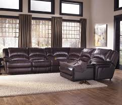 Black Leather Sofa With Chaise Living Room Decor With Black Leather Sectional Chaise Sofa With
