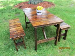 wooden picnic table with benches u2013 pollera org