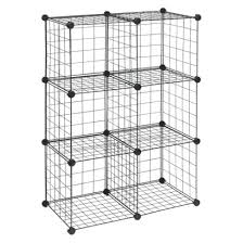 Closetmaid 6 Cube Closetmaid 6 Cube Wire Organizer Black Use These To Build Any