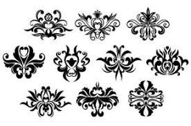 black floral ornament vector free vectors ui