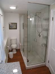 bathroom chic bathroom decor with modern shower space created