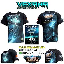 jual kaos vexana mobile legends skin necromancer sablon full