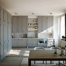 Best Gray Kitchens Images On Pinterest Gray Kitchens Modern - High kitchen cabinets