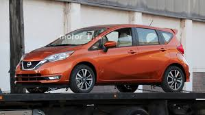 old nissan versa 2017 nissan versa note spied undisguised with updated look