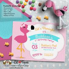 flamingo birthday party diy printable invitations
