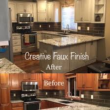 Faux Finish Cabinets Kitchen Creative Faux Finish Home Facebook