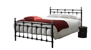 oxford kingsize 5ft metal bed frame black chrome amazon co