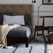 Simple Bed Frame West Elm Simple Low Bed Frame Chocolate West Elm Apartment