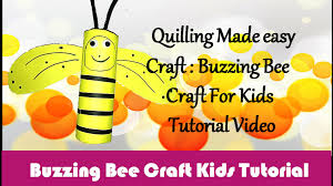 diy craft ideas how to make buzzing bee craft for kids paper