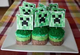 minecraft cupcake ideas birthday party