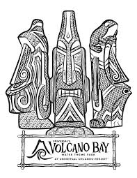 comic book coloring pages universal u0027s volcano bay tikis coloring page theme park comic