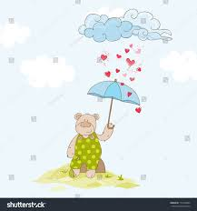 umbrella baby shower umbrella baby shower card vector stock vector 172766894