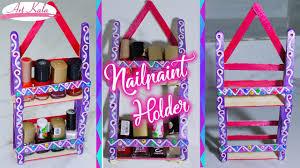 how to make nail polish holder nail polish rack popsicle stick