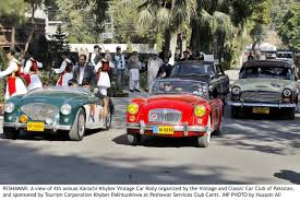 roll royce karachi back on the streets karachi khyber vintage car rally concludes at