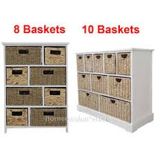 large storage unit wicker baskets bathroom storage hallway