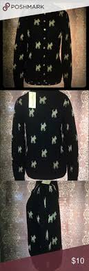 sweater with dogs on it clearance nwot simply vera d sweater cardigan and ties