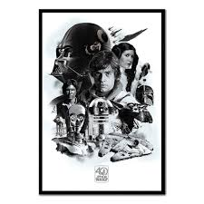 star wars 40th anniversary montage poster iposters
