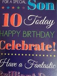 son 10th birthday card ebay