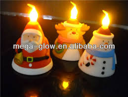 light up christmas candles magic led christmas santa snowman candle led light up christmas