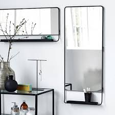 Mirror With Shelves by Black Vertical Mirror With Shelf By House Doctor Dk Mirrors