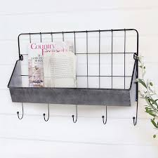 industrial wall shelving industrial metal wall shelf with hooks vintage inspired