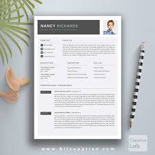 Professional Resume Templates Creative Resume Template Cover Letter Word Modern Simple