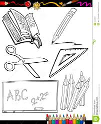 cartoon objects coloring page royalty free stock
